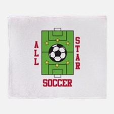 All Star Soccer Throw Blanket