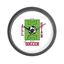 All Star Soccer Wall Clock