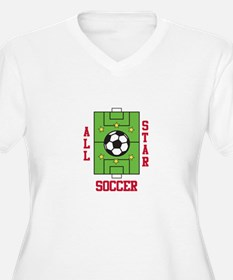 All Star Soccer Plus Size T-Shirt