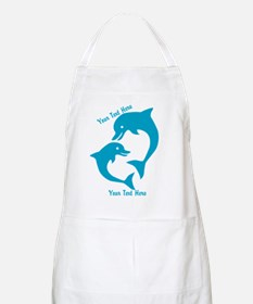 CUSTOM TEXT Cute Dolphins Apron