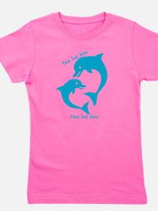 CUSTOM TEXT Cute Dolphins Girl's Tee