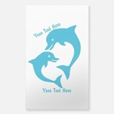 CUSTOM TEXT Cute Dolphins Decal