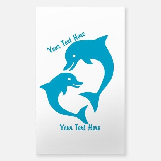 CUSTOM TEXT Cute Dolphins Decal