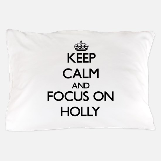 Cute Holly leaves Pillow Case