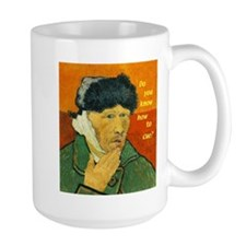 Vincent van Gogh Cues Large Handle Mug