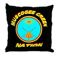 MUSCOGEE CREEK NATION Throw Pillow