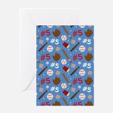 Baseball Player 5 Sports Greeting Card