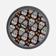 Unique Day of the dead wall Wall Clock
