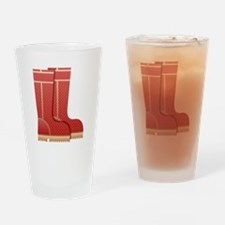 Rain Boots Drinking Glass