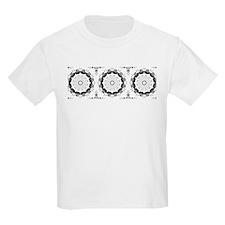 black and white swirl 8 T-Shirt