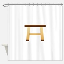 Wooden Stool Shower Curtain