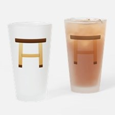 Wooden Stool Drinking Glass