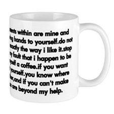 talkative mug black on white Mugs