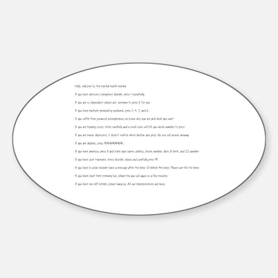 Unique Bipolar Sticker (Oval)