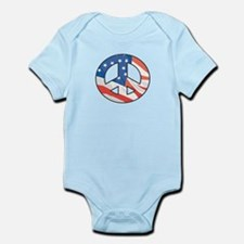 Peace Sign American flag Baby/Toddler bodysuits