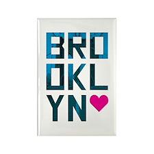Brooklyn Love Rectangle Magnet