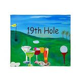 19th hole Fleece Blankets