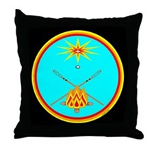 MUSCOGEE CREEK NATION Throw Pillow