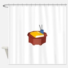 Table Pencil Booklet Shower Curtain