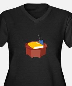 Table Pencil Booklet Plus Size T-Shirt