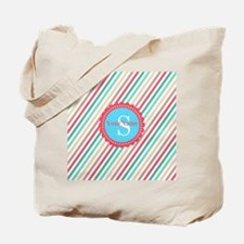Mod Stripes Personalized Tote Bag