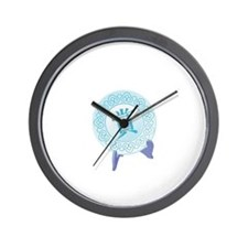 Chinese Logogram Decoration Symbol Wall Clock