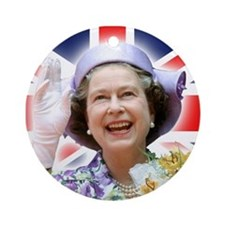 HM Queen Elizabeth II Ornament (Round)