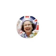 HM Queen Elizabeth II Mini Button