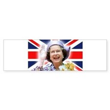 HM Queen Elizabeth II Bumper Car Sticker