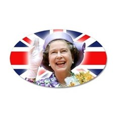 HM Queen Elizabeth II Wall Sticker
