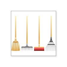 Brooms And Rakes Sticker