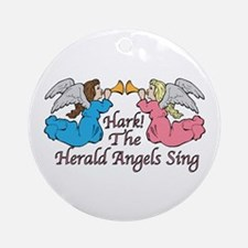 Hark! The Herald Angels Sing Ornament (Round)