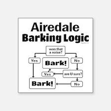 "Airedale logic Square Sticker 3"" x 3"""
