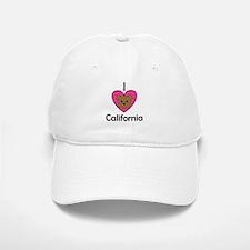 I Love California Baseball Baseball Cap