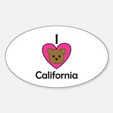 I Love California Oval Decal