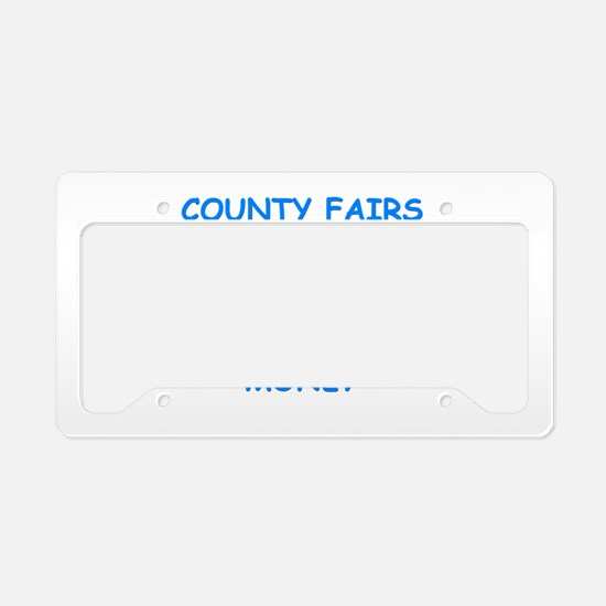 county fair License Plate Holder