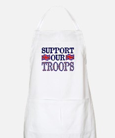 ...Support Our Troops U.K... BBQ Apron
