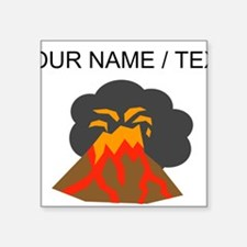 Custom Erupting Volcano Sticker
