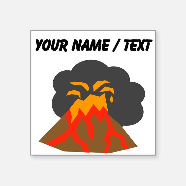 Custom Erupting Volcano Sticker