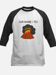 Custom Erupting Volcano Baseball Jersey