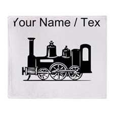 Custom Locomotive Throw Blanket