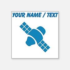 Custom Blue Satellite Sticker