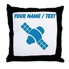 Custom Blue Satellite Throw Pillow