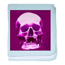 Human skull baby blanket