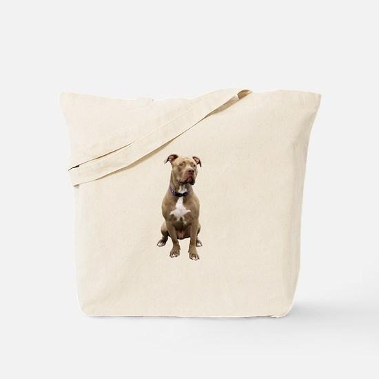 Pit Bull #1 (bw) Tote Bag