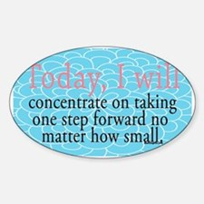 Funny Encouraging Sticker (Oval)