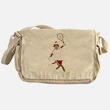 Sock Monkey Tennis Messenger Bag