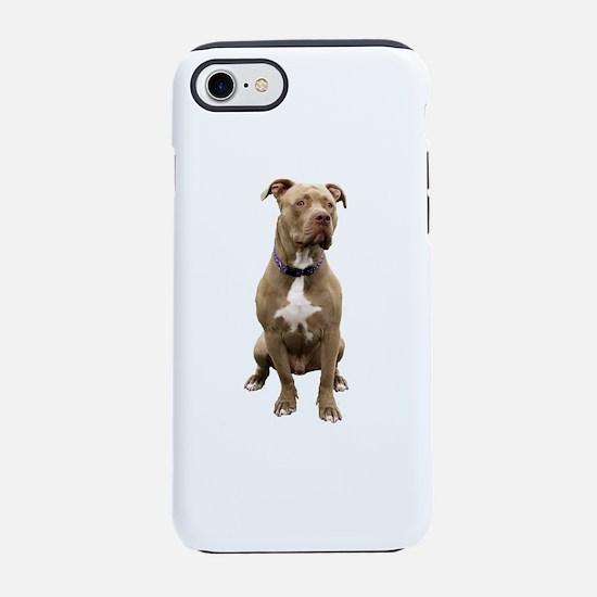 Pit Bull #1 (bw) iPhone 7 Tough Case