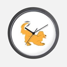 Golden Retriever Wall Clock