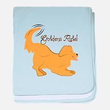 Goldens Rule! baby blanket